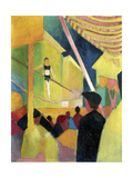 Tightrope Walker, C. 1913 Giclee Print by August Macke