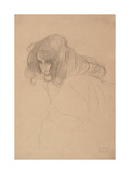 Study of a Woman's Head in Three-Quarter Profile, C.1901-1902 Giclée-Druck von Gustav Klimt