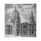 St Paul's Cathedral, City of London, C1715 Giclee Print by Robert Trevitt