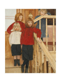 The Children of Monsieur Nève Giclee Print by Fernand Khnopff