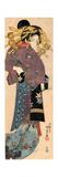 A Standing Bijin, Ca 1820 Giclee Print by Utagawa Kunisada