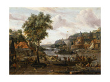 Sailing Boats, 17th or Early 18th Century Giclee Print by Abraham Storck