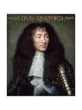 Louis XIV, King of France (1638-171) Giclee Print by Charles Le Brun