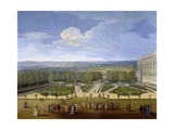 Louis XIV and His Court on a Promenade in the Gardens of Versailles Giclee Print by Etienne Allegrain