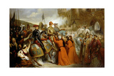 Entry of Charles VII into Rouen, 10 November 1449 Giclee Print by Henri Decaisne