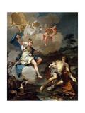 Diana and Endymion, 1723 Giclée-tryk af Giovanni Battista Pittoni