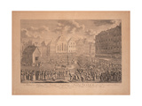 The Coronation Procession of Francis II from the Frankfurt Cathedral to Römerberg in July 1792 Giclee Print by Ambrosius Gabler