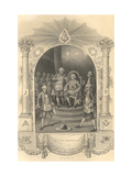 The French Freemasons Ceremony, 1844 Giclee Print