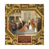 Charlemagne Crowns His Son Louis the Pious in 813 Giclee Print