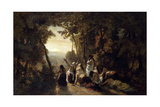 The Lament of Jephthah's Daughter, 1846 Giclee Print by Narcisse Virgile Diaz de la Pena