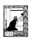 How La Beale Isoud Nursed Sir Tristram Giclee Print by Aubrey Beardsley