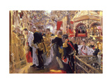 The Coronation of Emperor Nicholas II in the Assumption Cathedral, 1896 Giclee Print by Valentin Serov