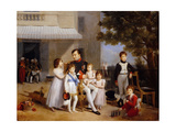 The Emperor Napoleon I on the Terrace of the Château Saint-Cloud Surrounded by His Children Giclee Print by Louis Ducis
