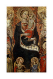 Madonna with Child, Saints and Angels, Late 14th or Early 15th Century Giclee Print by Niccolo di Pietro Gerini
