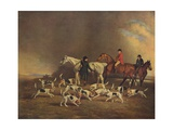 John Powlett and His Hounds, (C18th to 19th Centur), 1929 Giclee Print by Benjamin Marshall