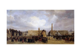 The Funeral Cortege of Napoleon I Passing Through the Place De La Concorde 15 December 1840 Giclee Print by Jacques Guiaud