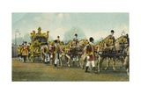King Edward VII's State Coach Used for Opening of Parliament, 1910 Giclee Print