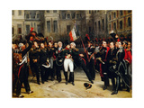 Napoleon's Farewell to the Imperial Guard in the Courtyard of the Palace of Fontainebleau Giclee Print by Antoine Alphonse Montfort