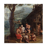 Enoch Family, 16th Century Giclee Print by Gillis Mostaert