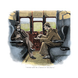 The Adventure of Silver Blaze, Holmes and Watson on Train Giclee Print by Sidney E Paget