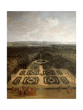 Promenade of Louis XIV in the Gardens of the Grand Trianon Giclee Print by Charles Chastelain