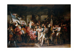 Marshal Ney and the Soldiers of the 76th Regiment of the Line Retrieve their Colors Giclee Print by Charles Meynier