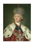 Portrait of the Emperor Paul I of Russia (1754-180), 1799-1800 Giclee Print by Vladimir Lukich Borovikovsky