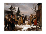 Louis XVI Distributing Alms to the Poor of Versailles During the Winter of 1788 Giclee Print by Louis Hersent