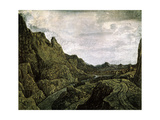 Rocky Valley with a Road, 17th Century Giclee Print by Hercules Seghers