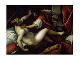 Tarquinius and Lucretia, 16th or Early 17th Century Giclee Print by Jacopo Palma