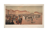 Grand Duke Constantine Pavlovich of Russia at Cavalry Review on the Saxon Square in Warsaw, 1824 Giclee Print by Jan Rosen