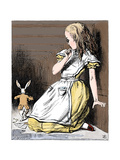 Scene from Alice's Adventures in Wonderland by Lewis Carroll, 1865 Stampa giclée di Tenniel, John