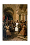 The Election of Godfrey of Bouillon as the King of Jerusalem on July 23, 1099 Giclee Print by Federico de Madrazo y Kuntz
