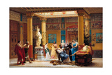 Rehearsal of Joueur De Flûte and La Femme De Diomède in the Atrium of Prince Napoleon's Pompeian Giclee Print by Gustave Clarence Rodolphe Boulanger