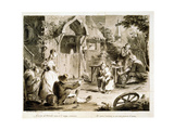 Farm Courtyard (A Country Musicia), 18th Century Giclee Print by Pietro Antonio Novelli