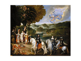 Allegory of the Treaty of the Pyrenees (Allegory of the Marriage of Louis XI) Giclee Print by Claude Deruet