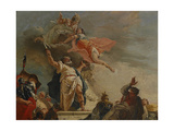 The Sacrifice of Iphigenia, 18th Century Giclee Print by Francesco Fontebasso