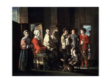 The Visit to the Grandmother, 1645 Giclee Print by Louis Le Nain
