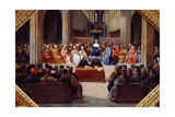 The Assembly of the Estates-General, April 10, 1302 Giclee Print by Jean Alaux