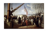 Queen Victoria Recieved the King Louis Philippe I on Board the Royal Yacht, September 1843 Giclee Print by François-August Biard