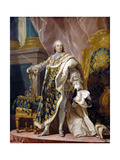 Portrait of Louis XV in His Royal Costume Giclee Print by Louis Michel Van Loo