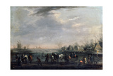 Winter Landscape with Skaters, Late 17th or Early 18th Century Giclee Print by Peeter Bout
