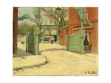 Entrance to the Park of the Moulin De La Galette Giclee Print