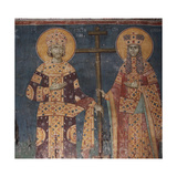 Exaltation of the Cross. Saints Constantine the Great and Helena, 1321-1322 Giclee Print