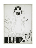 Enter Herodias. Illustration for Salome by Oscar Wilde Giclee Print by Aubrey Beardsley