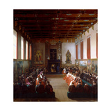 The Assembly of Notables at Rouen by Henry IV in 1596 Giclee Print by Jean Alaux