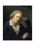 Portrait of Friedrich Von Schiller Giclée-tryk af Anton Graff