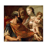 The Child Moses Trampling on the Pharaoh's Crown, C1685-C1687 Giclée-tryk af Sebastiano Ricci