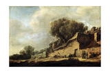 Landscape with a Peasant Cottage, 1631 Giclee Print by Jan Van Goyen