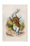 Too Late Said the Rabbit, 1930 Stampa giclée di Tenniel, John
